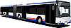 Vector clipart: City double bus.
