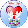 Vector clipart: Circle Valentine`s Day Greeting Card