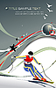 Vector clipart: Cover for winter sport brochure with skier.