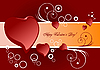 Vector clipart: Valentine`s day background with hearts.
