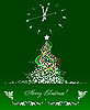 Vector clipart: Christmas - New Year tree with clock.