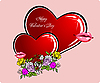 Vector clipart: Valentine`s Day Greeting Card