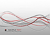 Vector clipart: Red grey (gray) abstract composition. Background. Vect