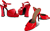 Vector clipart: Two pairs of Fashion women shoes.