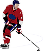 Vector clipart: Ice hockey player.
