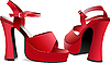 Vector clipart: Fashion woman red shoes.