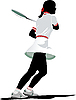 Vector clipart: Tennis player.