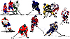 Vector clipart: Ice hockey players.