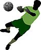 Векторный клипарт: Футболисты.