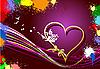 Grunge blot valentine`s day banner.