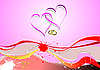 Vector clipart: Cover for Valentine`s Day with hearts.