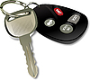 Vector clipart: car ignition key