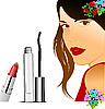 Vector clipart: Floral woman silhouette with mascara.