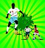 Vector clipart: Grunge Soccer banner.
