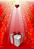 Vector clipart: Cover for Valentine`s Day with gift box.