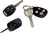 Vector clipart: Car key with remote control over white