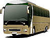 Vector clipart: Light brown bus