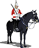 Vector clipart: London guard on horse