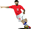 Vector clipart: Soccer players.