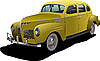 Vector clipart: 1950`s Luxury Coupe on .