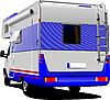 Vector clipart: camper van