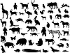 Collection of animal silhouettes
