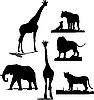 Vector clipart: African animal silhouettes