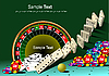 Vector clipart: Casino elements with domino principle.