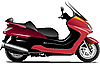 Vector clipart: Sketch of city motorcycle. Scooter.