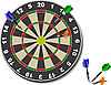Vector clipart: Darts. Office game.
