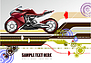 Vector clipart: Abstract hi-tech background with bike.