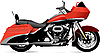Vector clipart: Sketch of modern motorcycle.