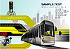 Vector clipart: Abstract hi-tech background with tram.