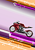 Vector clipart: Modern background with motorcycle.