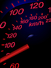 Vector clipart: Sport car speedometer.