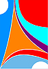 Abstract colored circus background.