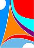 Vektor Cliparts: abstrakter farbigen Hintergrund Zirkus.