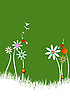 Vector clipart: Summer green background.