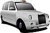 Vector clipart: Lond taxicab.