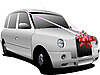 Vector clipart: Wedding white car.
