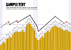 Vector clipart: Financial graph or stock chart.