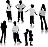 Vector clipart: Children silhouettes.