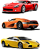 Vector clipart: Three sport cars