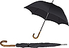 Vector clipart: Opened and closed black umbrella.