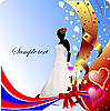 Vector clipart: Wedding or Valentine`s Day Greeting Card. .