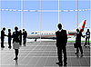 Vector clipart: Airport scene