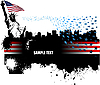 Vector clipart: Banner with Americans.