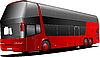 Vector clipart: New London double Decker red bus.
