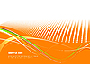 Vector clipart: Orange doted background.