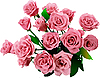 Vector clipart: Bunch of roses.
